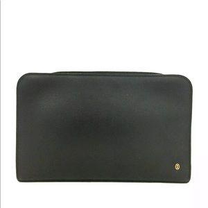 Cartier Pasha Black Leather Clutch + Dust Bag